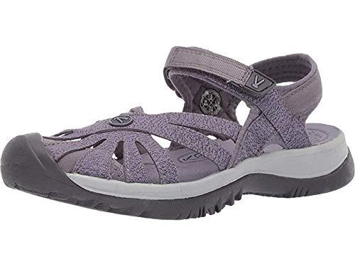 KEEN Women's Rose Sandal Slipper, Shark/Lavender Grey, 9.5 M US