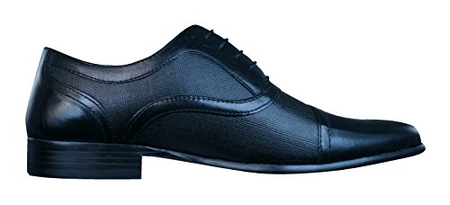 Cuir Hommes Chaussures Black Potton Tape En Red Loafers YnIUZxv