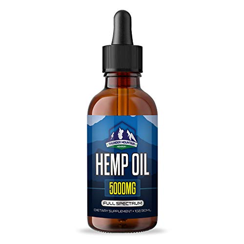 Organic Hemp Oil Extract - Relieves Pain and Promotes Relaxation - Calming Peppermint Flavour - Anti-Anxiety and Stress Support - Sans CBD Oil