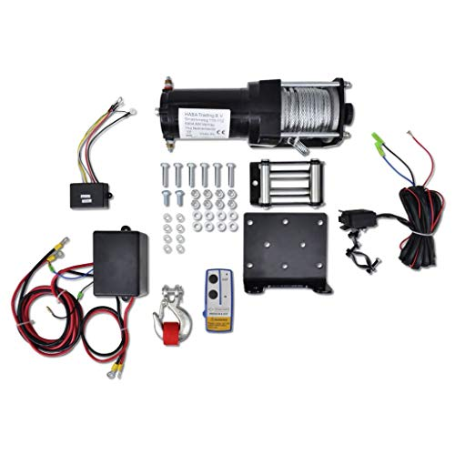 Business & Industrial Material Handling Lifts & Hoists Winches Electric Winch 3000 lb Plate Roller Fairlead Wireless Remote Control from romelarus