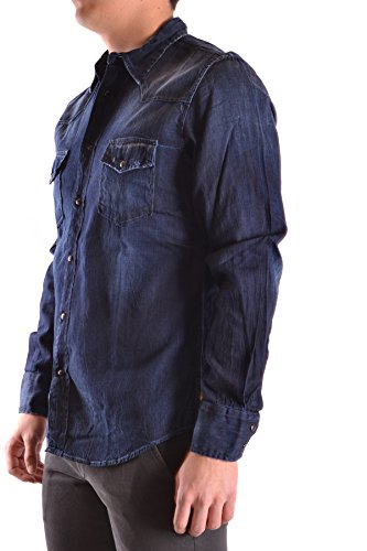 Meltin'pot Camicia Uomo MCBI340006O Cotone Blu
