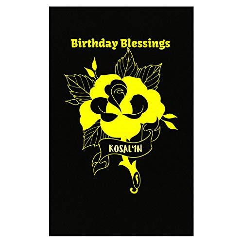 (Klarkite Industries Rosalyn Birthday Blessing Yellow Celebration Greeting - Poster )