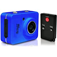 Gear Pro HD 1080p Action Cam - Hi-Res Digital Camera/Camcorder with Full HD Video, 12.0 Mega Pixel Camera, 2.4 Touch Screen (Blue)