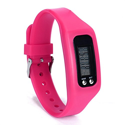 Price comparison product image Big promotion ! Teresamoon watch Electronic pedometer Watch (Hot Pink)