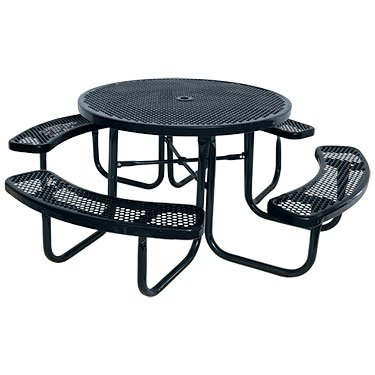 Amazon kirby built products 46 round thermoplastic coated kirby built products 46quot round thermoplastic coated metal supersaver commercial picnic table portable watchthetrailerfo