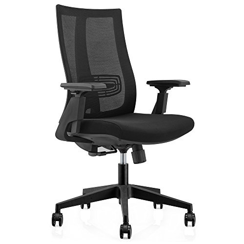 CMO High Back Mesh Ergonomic Office Chair with 2-to-1 Synchro-Tilt Control, Big and Tall Recline Managers Chair with Adjustable Armrests, (Ergo Task Chair)