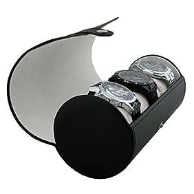 Vegan Leather Watch Roll Organizer by Case Elegance