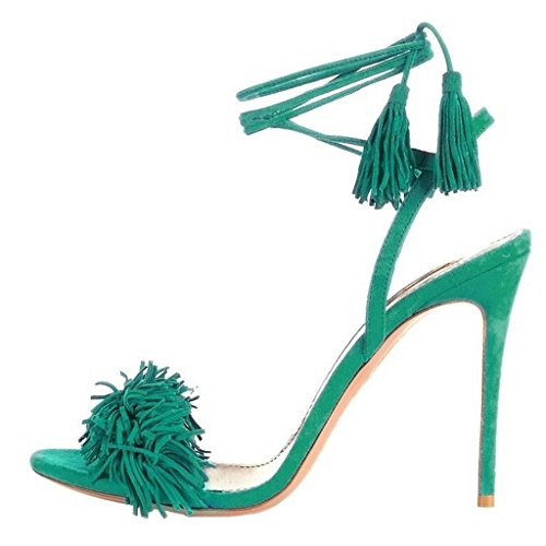 Jushee - talón abierto mujer Verde - verde