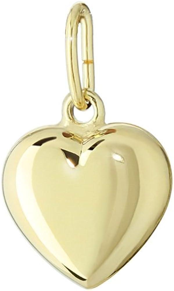 NKlaus Pendentif en forme de c/œur en or jaune 333/Cha/înes Miroir 8,6/x 8,3/mm Femme Fille 4758