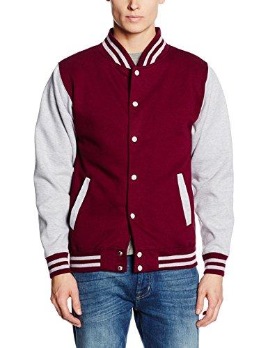 Hoods burgundy Homme Jacket Blouson Varsity Just By Rouge heather Awdis AHqgdw