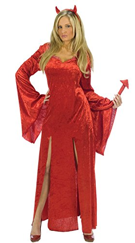 Sultry Devil Costumes (GTH Women's Sultry Devil Demon Theme Party Halloween Fancy Costume, Small/Medium (2-8))