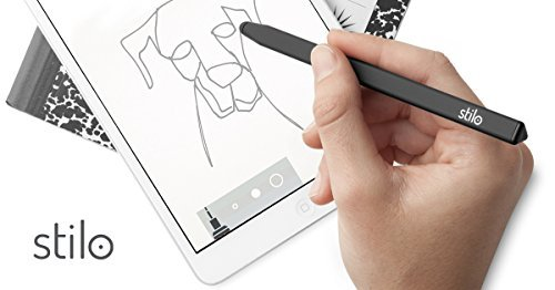 Stilo 6R Black - stylus pen for iPad, iPhone, Samsung, Kindle, Android and Windows touchscreens by Stilo