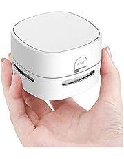 Portable Mini Vacuum Cleaner, Handheld Table Dust Sweeper Energy Saving, Desktop Crumb Sweeper for Keyboard/Home/School/Office (White)