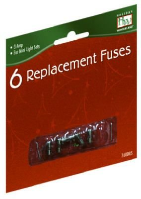 NOMA/INLITEN-IMPORT 1267-88 HW 6Pk 3A Light Replacement Fuse (Bulb Lights For Christmas Fuse)