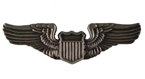 PILOT US United States Air Force USAAC Wings Large Quality Hat or Lapel pin