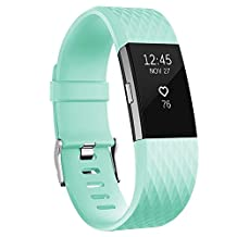 For Fitbit Charge 2 Bands, READ Replacement Soft Silicone Accessory Wristbands for Fitbit Charge 2 HR Tracker, Large Small