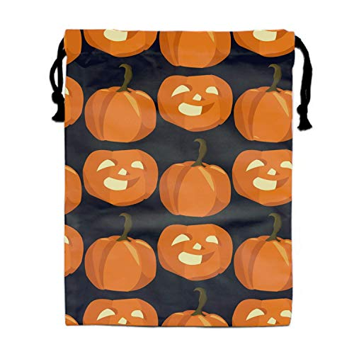Mastexoru drawstring backpack Halloween Smile Pumpkins Drawstring Backpack Bags for Party Favors Supplies Birthday, Gift for Kids Teens Boys and Girls, 1 Pack 15.75 x 11.8