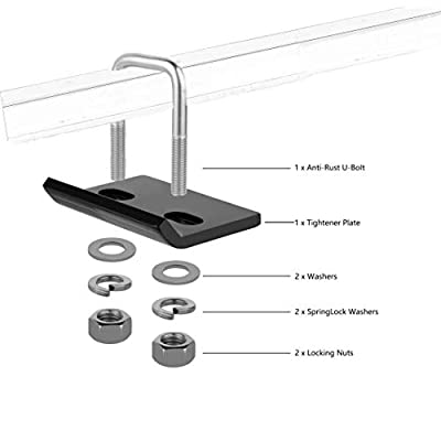 """Firgus Hitch Tightener for 1.25"""" and 2"""" Hitches Heavy Duty Black Anti Rattle Stabilizer with Bonus Hitch Pin: Automotive"""