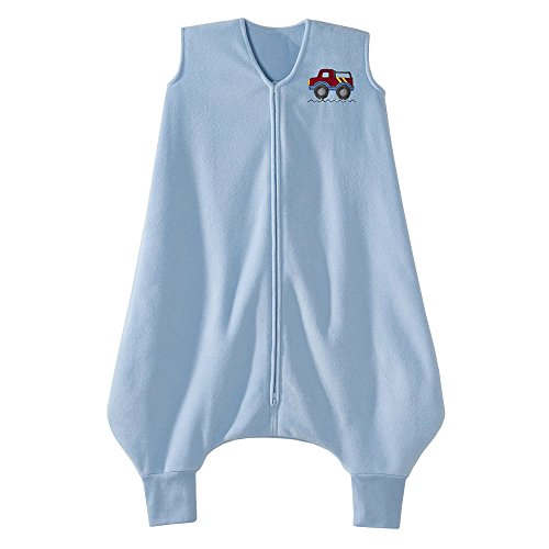HALO Big Kids Sleepsack Micro Fleece Wearable Blanket, Blue, 2T-3T