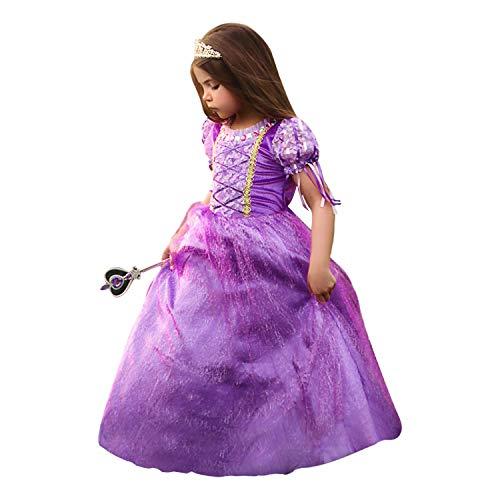 Duchess Dress - Trish Scully Child Duchess Princess Dress Costume (Purple) (6 Years)