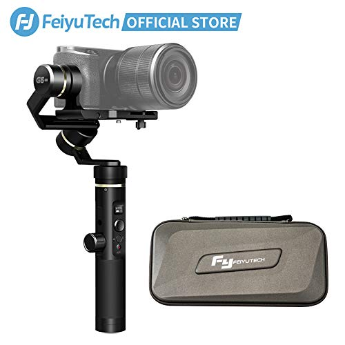 (FeiyuTech (Official Exclusive G6 Plus 3-Axis Handheld Gimbal Stabilizer,Fits Mirrorless Camera, Pocket Camera, GoPro, Smartphone,Payload 3.3 lb,Splashproof )