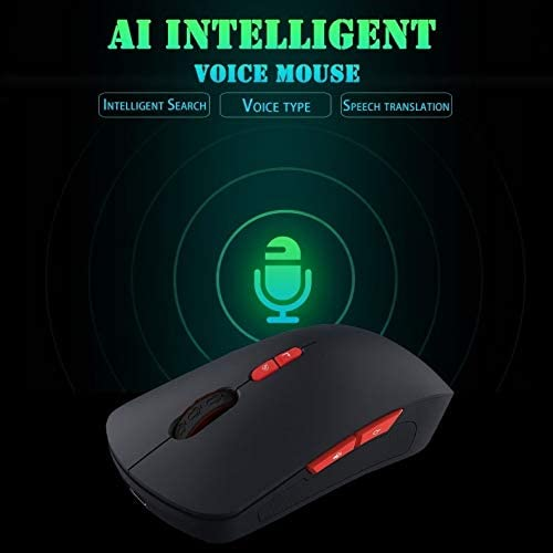 Support Intelligent Translation /& Voice Commands Durable V6 2.4GHz 1200DPI 7-Keys Wireless Optical Mouse with Micro USB Receiver Color : Black