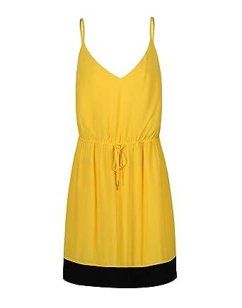 Robe Tommy Jeans jaune pour femme  Amazon.fr  Vêtements et accessoires d30ccd01aaa