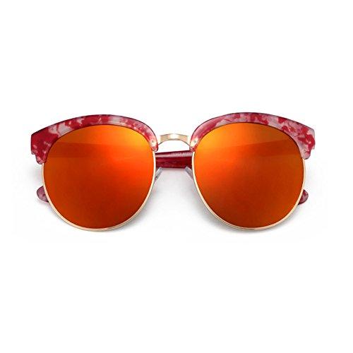 resina conducción sol diseño DaoRier Gafas de vintage Marble White viajes mujer de Pomegranate para vacaciones para Red wfxwnIqRT4