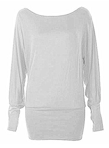 RR Designs - Camiseta de manga larga - para mujer blanco