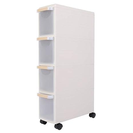 EBTOOLS 4 cajones Mueble de almacenaje Sobre Ruedas Estante Mueble para Almacenamiento, (Polipropileno,