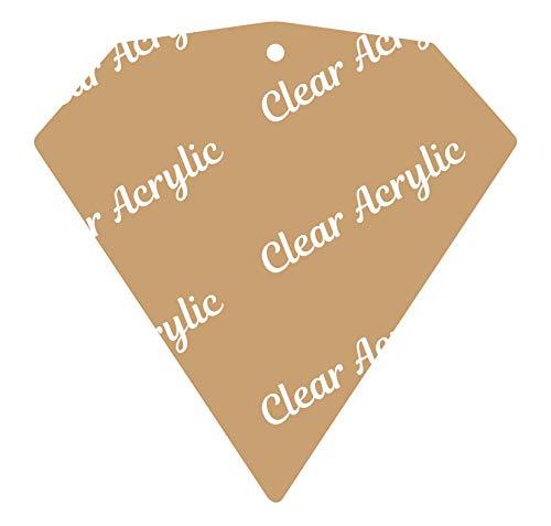 Clear Acrylic Blanks for Keychains, Bag Tags & Glitter Vinyl Crafts (Diamond Shape) ()