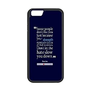 Dustin Funny Quote IPhone 6 Plus Cases Thema Davis Quote About Strength and Weakness, [Black]