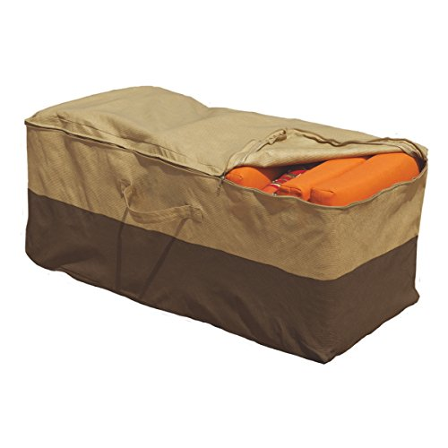 Outdoor Cushion Storage Bag Patio Furniture Chaise Organizer Protector Cover (Zip Face Halloween Buy)