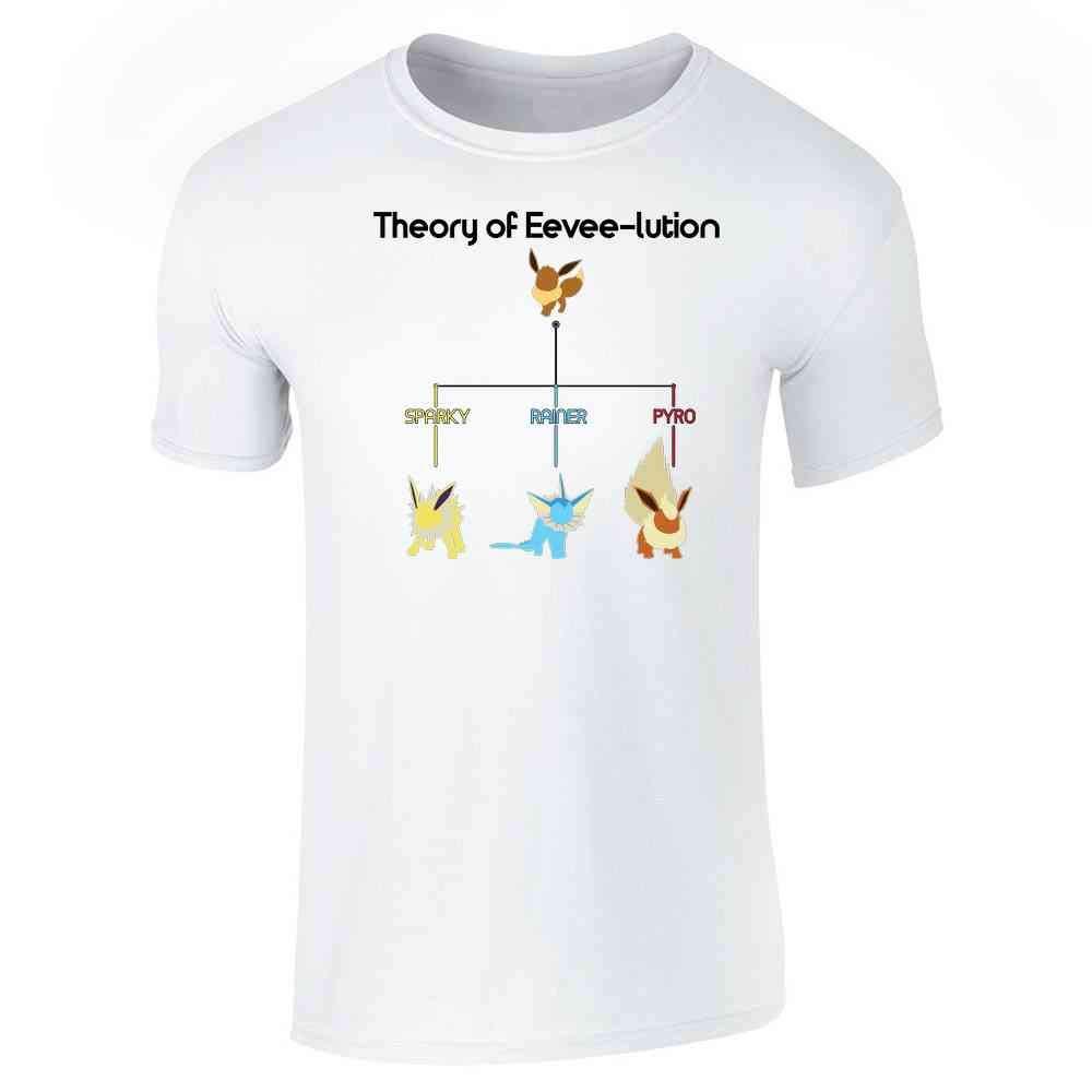 8fe631cd Amazon.com: Theory of Eevee-lution Short Sleeve T-Shirt: Clothing