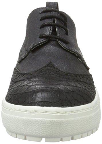 s.Oliver 23652, Zapatos de Cordones Derby para Mujer, Negro (Black Metallic 35), 41 EU
