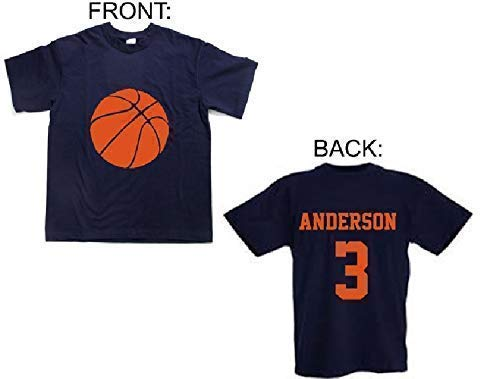 personalized boys basketball shirt with name and number
