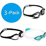 GNYO Swim Goggles – Swimming Goggles with No Leaking Anti Fog UV Protection Triathlon Swim Goggles for Adult Men Women Youth Kids Child