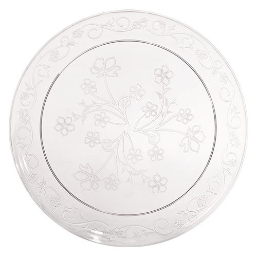 Premium Quality Heavyweight Plastic Plates China Like. Wedding and Party Dinnerware Plastic Plates 20 count, 9 inch, Clear