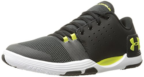 Under Armour Men's Limitless 3 Sneaker, Black (003)/White, 11