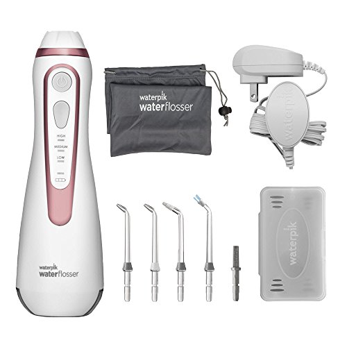 41gvkokDWAL - Waterpik Cordless Water Flosser Rechargeable Portable Oral Irrigator For Travel And Home - Cordless Advanced, WP-569 Rose Gold