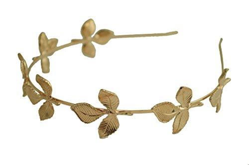 [Greek Goddess Rose Gold Leaf Crown High Fashion Prom Wedding Hairband Women] (Roman Goddess Accessories)