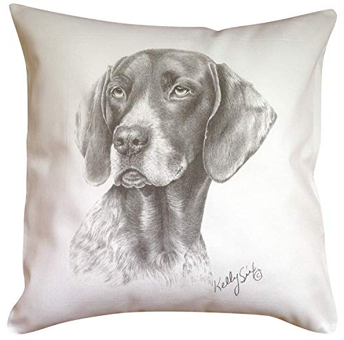 Yohoba German Shorthair Pointer MS Breed of Dog Themed Cotton Linen Cushion Cover Home Decorative Throw Pillowcases Covers Sofa Couch Square 18