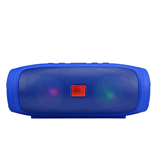RcnryColorful Bluetooth Speakers, Double 3W Speakers, Independent Bass Shock Film, Built-in Microphone, LED Flashlight, Blue, Black, red,Blue
