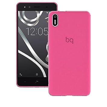 6a1d9ef1378 Donkeyphone - Funda Carcasa DE Silicona Rosa para BQ AQUARIS X5 Gel TPU  Lisa Transparente: Amazon.es: Electrónica
