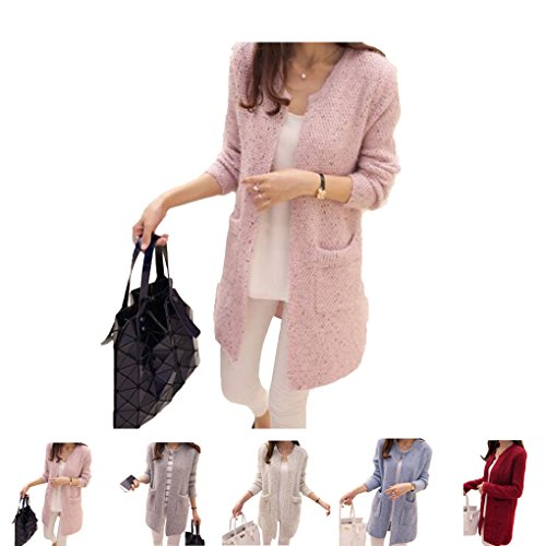 Mid Length Cardigan Sweater Masterein Printemps Automne Femmes zwcgtqU