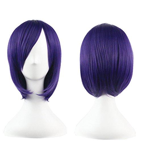 Crazy Cart (TM) Heat Friendly Short Straight Cosplay Party Bob Hair Wig (Short, Straight, Purple)