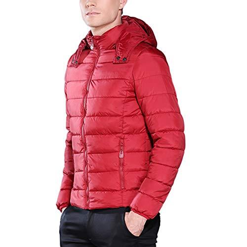 Couleurs 5 Décontracté Doudoune Manteau Casual À Sliktaa l Homme Coton Epais Rouge Capuche Veste Chaud En Xxs Hiver Plus q1f4T