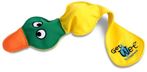 Doggles Yellow Get Wet Duck Dog Toy