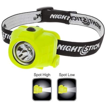 Nightstick XPP-5452G Intrinsically Safe Permissible Dual-Function Headlamp, Green (5 Pack)