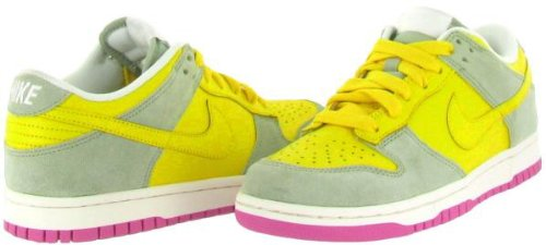 Nike Womens Dunk Low Cl Tr Yellow / Tr Yllw-aq Gry-pnkfr, Us 7.5